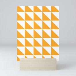 Geometric Pattern 01 Yellow Mini Art Print