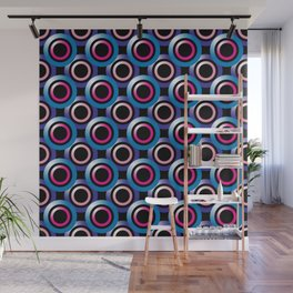 Repeating Overlapping Circles Pattern Wall Mural