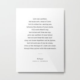 Kahlil Gibran Quote 06 - The Prophet - Typewriter - Minimal, Modern, Classy, Sophisticated Print Metal Print