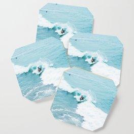 Wave Surfer Turquoise Coaster