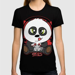 """Great Nice Game Tee For Gamer """"Panda Plying Like A Pro With Headphones On"""" T-shirt Design Console T-shirt"""