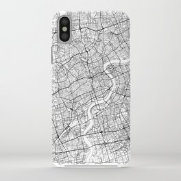 Shanghai Map White iPhone Case