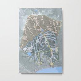 Homewood Resort Trail Map Metal Print