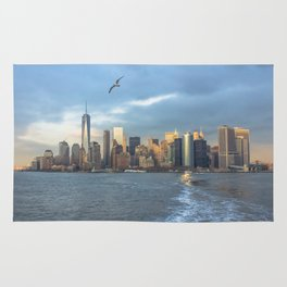 City Skyline w/ Bird Rug