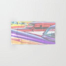 Candy Color Hot Rods, Tasty Automotive Art by Murray Bolesta Hand & Bath Towel