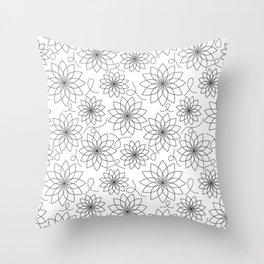 Stark Flowers Throw Pillow