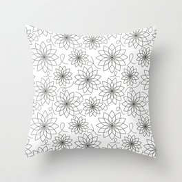Stark Flowers Throw Pillow