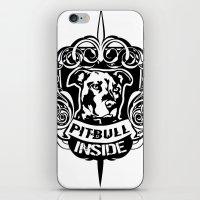 pitbull iPhone & iPod Skins featuring pitbull inside by Fabio Brambilla LGT
