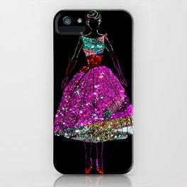 Audrey Pink Glitter Dress iPhone Case