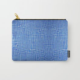 Abstract blue background grid Carry-All Pouch