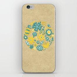 Little Flower Circle iPhone Skin