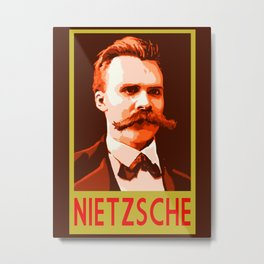 Philosophers of Note - Nietzsche Metal Print