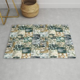 Nature Print Collage Rug