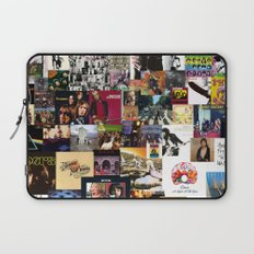 Classic Rock And Roll Albums Collage Laptop Sleeve
