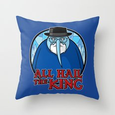 The King of Ice Throw Pillow