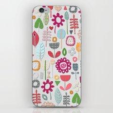 paper cut flowers silver iPhone & iPod Skin
