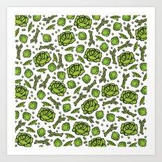 Green Vegetables Art Print