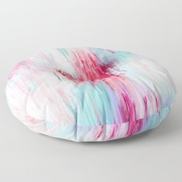 Rose Abstract Floor Pillow