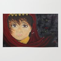 arabic Area & Throw Rugs featuring Arabic Girl by Sharifah Ali