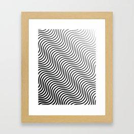 Whiskers - Black #399 Framed Art Print