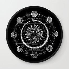 Boho Moon Wall Clock