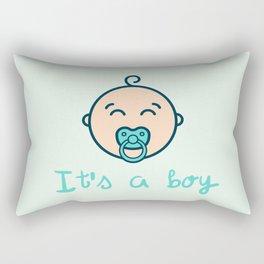 It's a baby boy! Rectangular Pillow