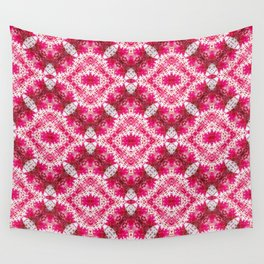 Padded Icy Pink Diamonds Wall Tapestry