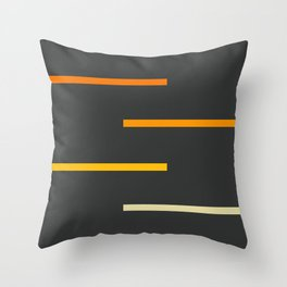 Abstract Minimal Retro Stripes Ashtanga Throw Pillow