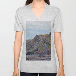 Hartland Quay Cliffs Unisex V-Neck