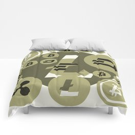 Ethereum, Bitcoin, Dash, Ripple, Litcoin pattern Comforters