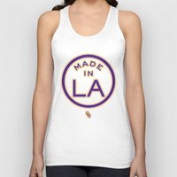 lakers Tank Tops featuring Made in LA - LAKERS by DCMBR - December Creative Group