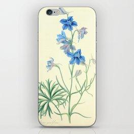 175. Roscoe, Margaret (1786-1840) - Floral Illustrations of the Seasons 1831 - Delphinium Grandiflor iPhone Skin