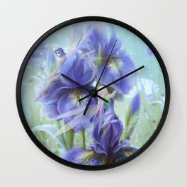 Imagine - Fantasy iris fairies Wall Clock