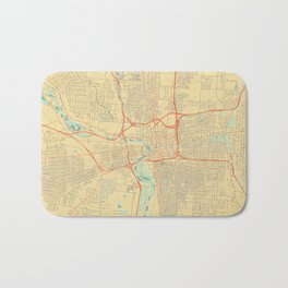 Columbus Map Retro Bath Mat