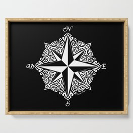 Cindy's Tribal Compass Rose Serving Tray