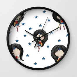 Wondergirl super cute super heroes Wall Clock