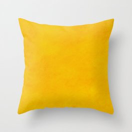 yellow curry mustard color trend plain texture Throw Pillow