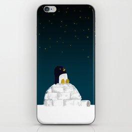 Star gazing - Penguin's dream of flying iPhone Skin
