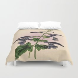 Blue Salvia - Vintage styled seed packet Duvet Cover