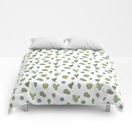 Cartoony Cacti pattern Comforters