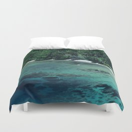 Tahiti White Sand Beach Romantic Getaway Duvet Cover