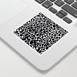 Animal Print Cheetah Black and White Pattern #4 Sticker