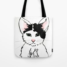 Sadface Cat Sketch Tote Bag