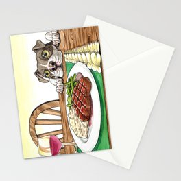 A Dog's Potential Steak Dinner Stationery Cards