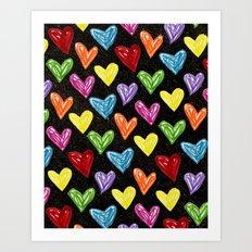 Midnight Love Art Print