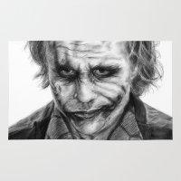 joker Area & Throw Rugs featuring Joker by robo3687