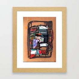 Autumn blackboard Framed Art Print