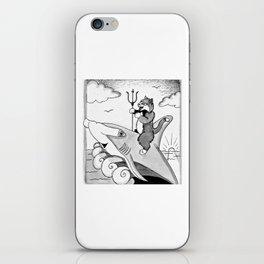 Cat Riding Shark iPhone Skin