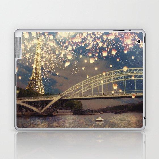 Love Wish Lanterns over Paris Laptop & iPad Skin