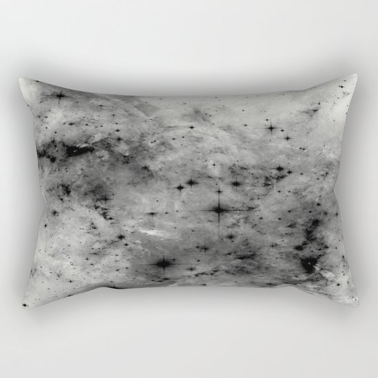 Space Without Colour - Black And White Painting Rectangular Pillow